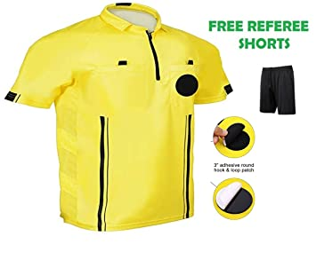 f1d91476d One Stop Soccer Official Referee Soccer Jersey Medium/Yellow ...