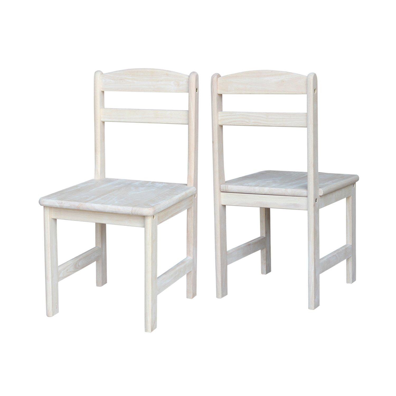 International Concepts Unfinished Juvenile Chair, Set of 2 by International Concepts (Image #3)