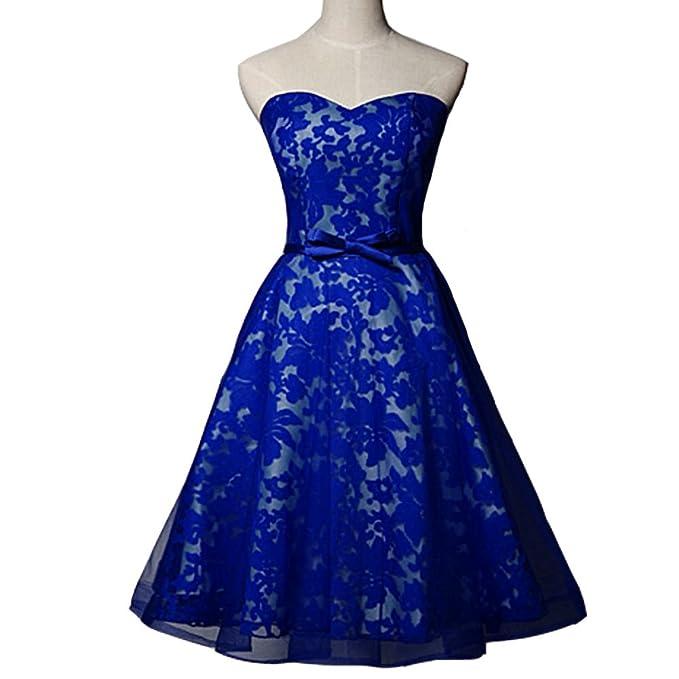 Kivary Lace Short A Line Plus Size Prom Dresses Homecoming ...