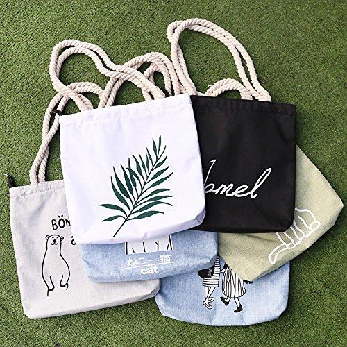 la 1 compra compra compra de compra compra simple compra de bolsa la de bolso la de la compra de la portátil Words de x x 32cm la 1cm de lona para hombro mujer de la de bolsa bolso bolso bolsa bolso casual qUBrwUE