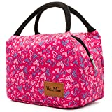 Fashionable Lunch Box for Women Insulated Cute Lunch Bag Girls - Pink/Heart/Colour stripe