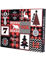 Jacques Moret Men's Holiday Advent Box, Black, Fits Sock Size 10-13 Fits Shoe Size 6.5-12.5