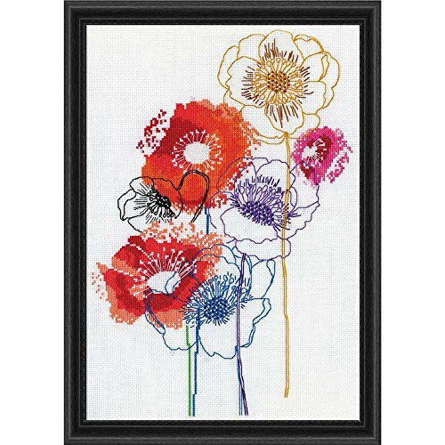 "Design Works Counted Cross Stitch Kit 10"" x 14"" ~ MODERN FLO"