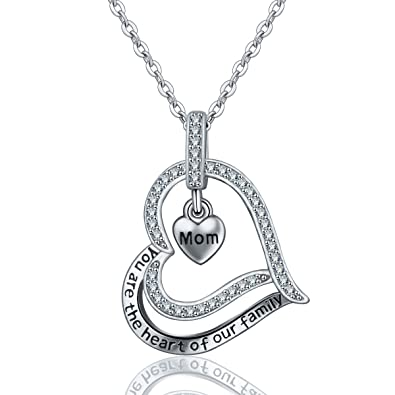 Women Necklace, AEONSLOVE 925 Sterling Silver Tree of Life Pendant Family Tree Jewellery 18inch