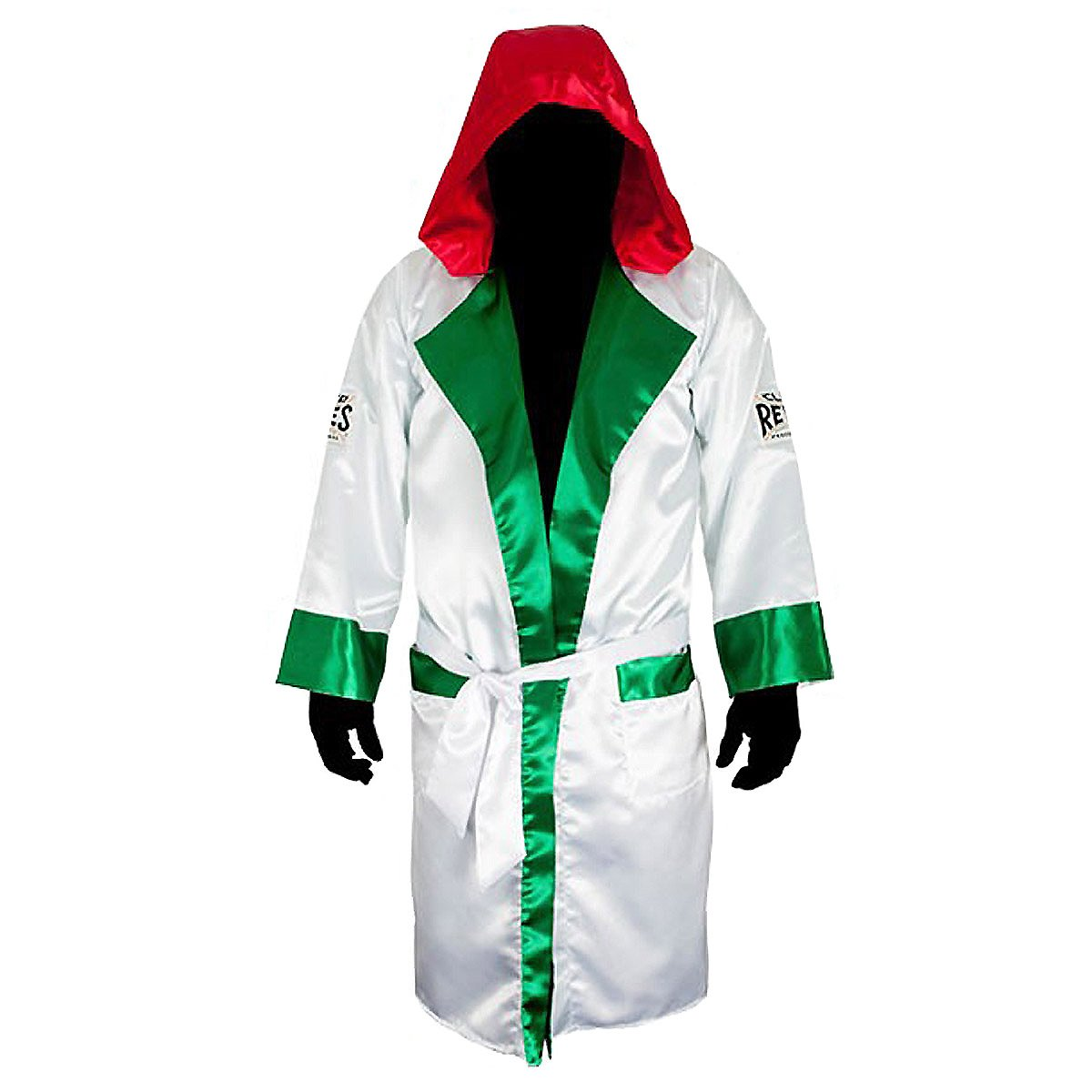 Cleto Reyesサテンボクシングローブwith Hood – Mexican Flag B06ZY19XV7  Medium