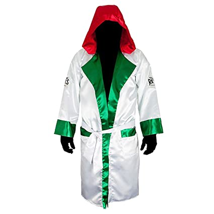 44af19fa9a Amazon.com   Cleto Reyes Satin Boxing Robe with Hood - Mexican Flag ...