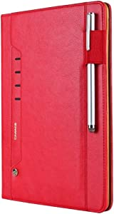 DESHENG Tablet Protective Clips for iPad Pro 10.5 Tmall Kaka Texture Horizontal Flip Leather Case with Holder & Card Slot & Photo Frame & Pen Slot Tablet PC Bag (Color : Red)
