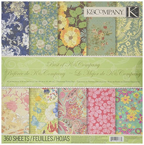 Crafting K & Company Paper (K&Company 12-Inch by 12-Inch Best of K Paper Pad, 360)