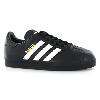 size 40 7d8e7 365c0 Adidas Gazelle 2 Black White Leather Mens Traienrs Size 11 UK  Amazon.co.uk   Shoes   Bags