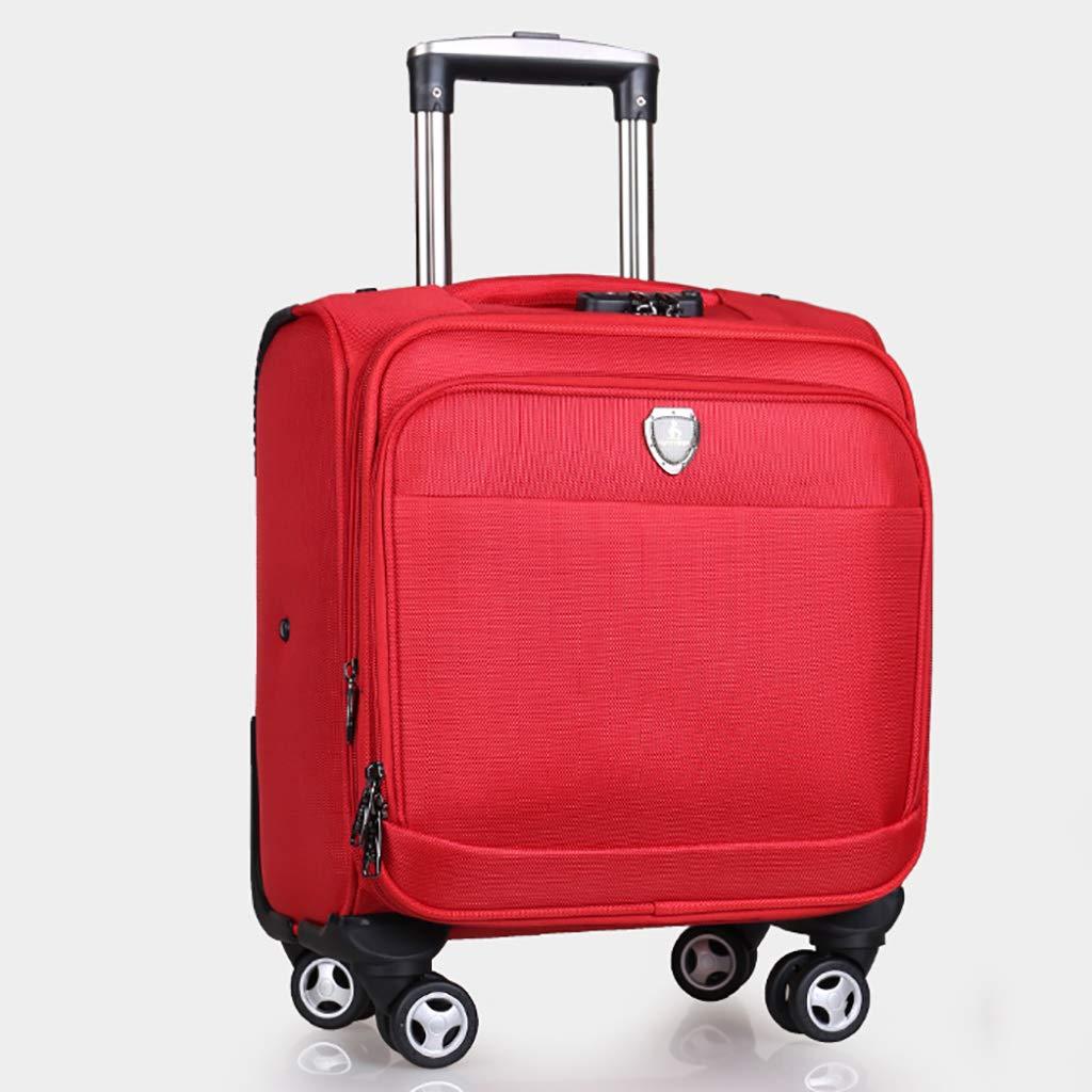 トラベルトロリーローリングラップトップケースコンターバランスノートブックローラーバッグコンパクトオーバーナイト2サイズ4色 B07KRW817S Red 40*41*23cm