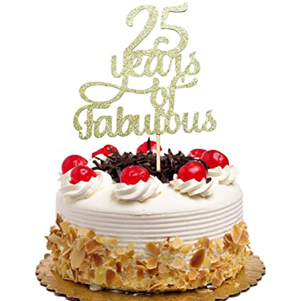 Amazon 25 Years Of Fabulous Cake Topper