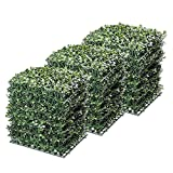 Yescom 24-Pack 10″x10″ Artificial Boxwood Hedge Mat with Cable Ties UV Privacy Fence Screen Greenery Panel Outdoor Decor Review