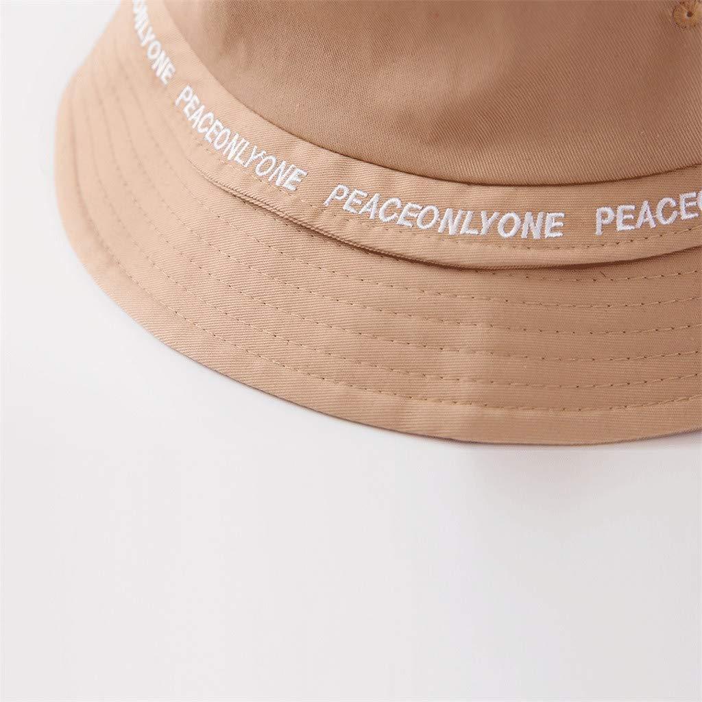 da Spiaggia Gelb Pesca Spiaggia per Viaggi LANSKRLSP Cappello da Pescatore alla Moda con Motivo a Lettera Escursioni