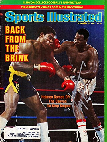 Larry Holmes Autographed/Hand Signed Boxing Original 11-16-81 Sports Illustrated Magazine