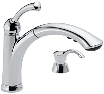 Delta 16926 SD DST Lewiston Single Handle Pull Out Kitchen Faucet With Soap