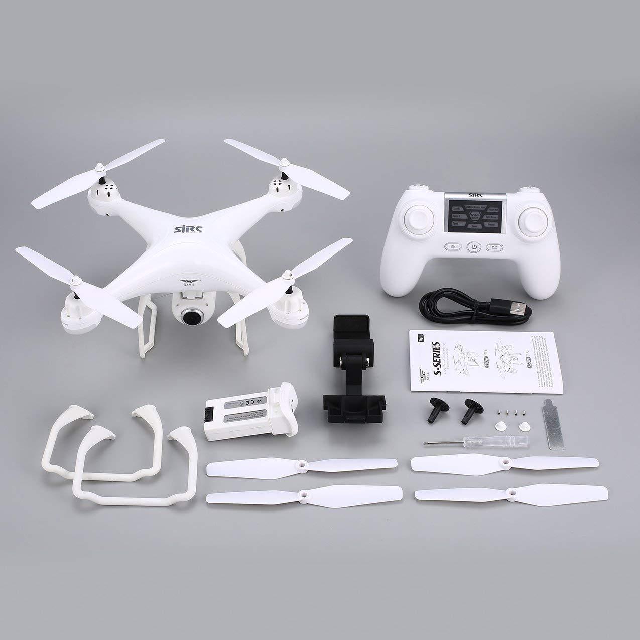 Redstrong SJ R / C S20W FPV 1080P Cámara Selfie Altitude Hold Drone Modo sin Cabeza Auto Retorno Despegue / Aterrizaje GPS RC Quadcopter