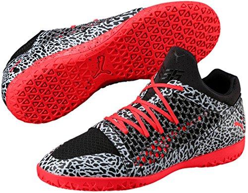Puma Heren 365 Netfit Textuur Ct Voetbalschoen Puma Zwart-rood Blast-puma Wit
