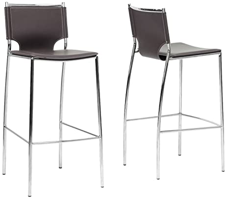 Baxton Studio Montclare Leather Modern Bar Stool Brown Set of 2  sc 1 st  Amazon.com & Amazon.com: Baxton Studio Montclare Leather Modern Bar Stool ... islam-shia.org