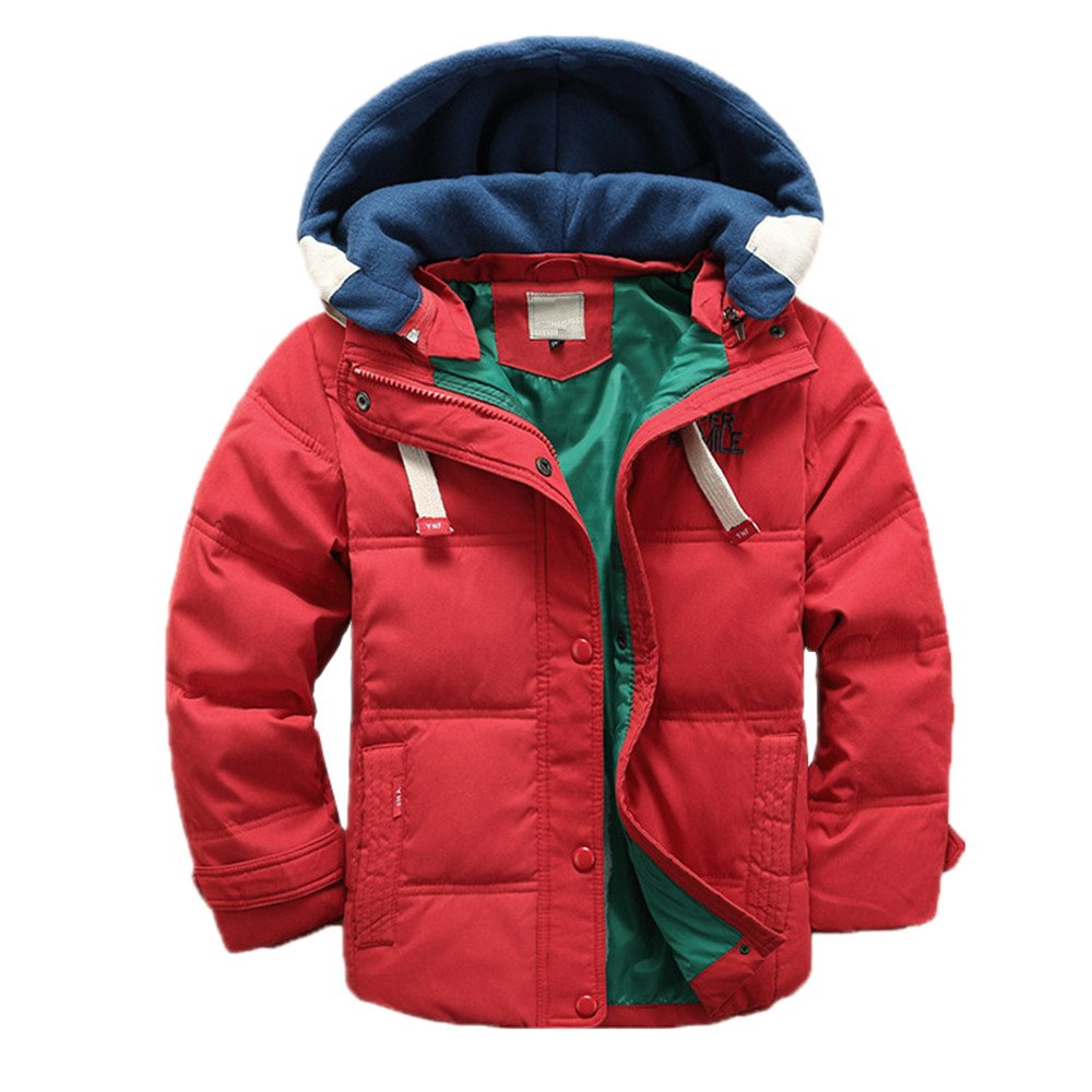 LJYH Boys' Hooded Puffer Jacket Big Boys Winter Down Coat