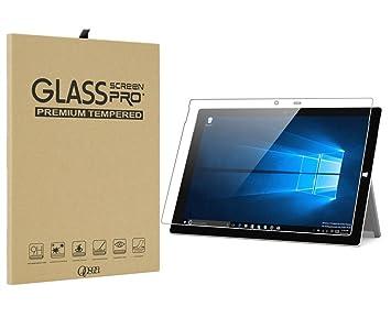 99eae7f03a3b7 Kiiko Microsoft Surface Pro 4 強化ガラスフィルム 対応 保護シート フルカバー 気泡ゼロ Surface