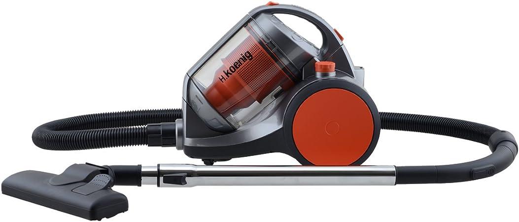 H.Koenig TCM40 TCM40-Aspiradora sin Bolsa Multi ciclónico, Color Naranja, 2200 W: Amazon.es: Hogar