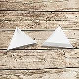 Faxco 60 PCS Plastic White Triangle Sorting
