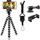Phone Tripod, Linkcool Octopus Phone Tripod Portable and Adjustable Tripod Stand Holder with Universal Clip and…