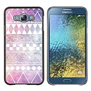 Dragon Case - FOR Samsung Galaxy E7 E7000 - stars purple native American sky pattern - Caja protectora de pl??stico duro de la cubierta Dise?¡Ào Slim Fit