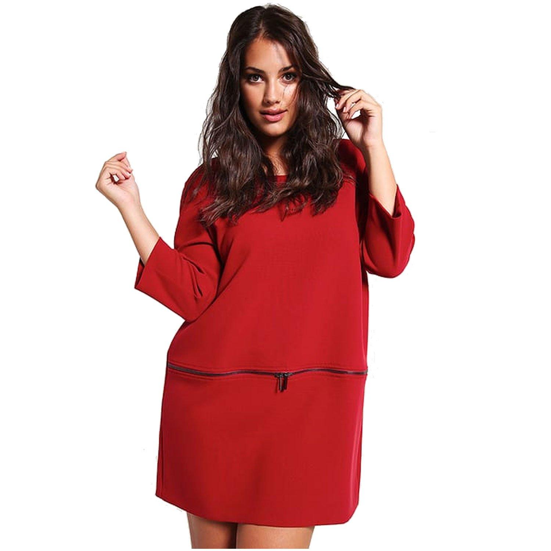Persona by Marina Rinaldi Womens Fine Dress Plus Size Red 16