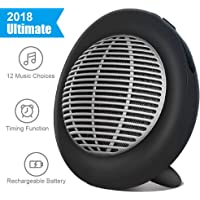 White Noise Machine, Portable Oval Sleep Sound Machine, Sound Therapy Machine with 3 Timers & 12 Natural Sound Options Including Lullaby, Ideal for Tinnitus Sufferer, Light-Sleeper, Kid, Baby EastPin