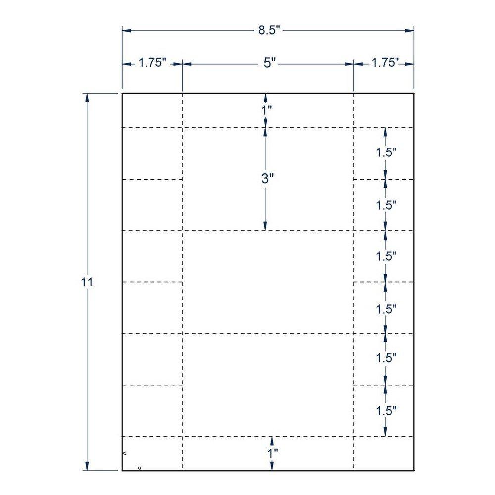 5'' x 3'' White Index Card, 3 Cards per Sheet (250 Sheets per carton)