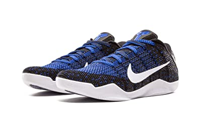 NIKE Mens Kobe XI Elite Low, Mark Parker-BlackWhite-Racer Blue