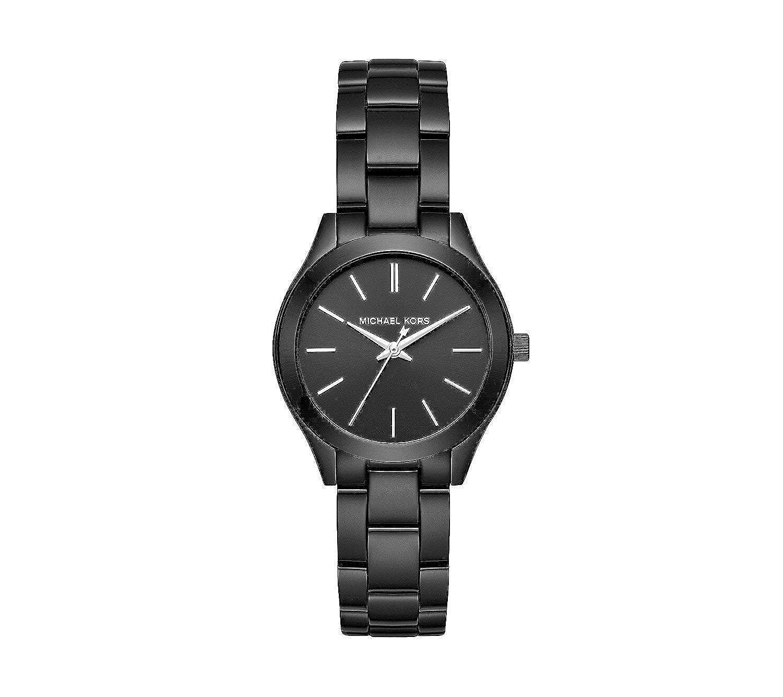 Michael Kors Women s Mini Slim Runway Black Watch MK3587