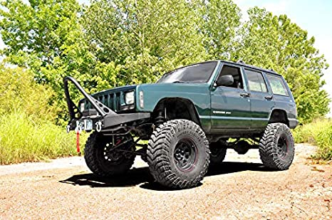 Lifted Jeep Cherokee >> Rough Country 6 5 Lift Kit Compatible W 1984 2001 Jeep Cherokee Xj 4wd X Series W N3 Shocks Suspension System 69620
