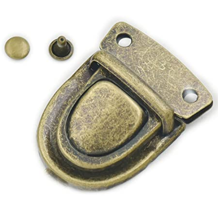 daf0f609eb5d Fujiyuan 10 pcs 30mm x 40mm Closure Catch Tuck Lock for Leather Bag Case  Clasp Purse Backpack Nickel