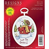 Janlynn 21-1058 Let it Snow 2-1/4 by 2-3/4-Inch Counted Cross Oval Stitch Kit, Mini