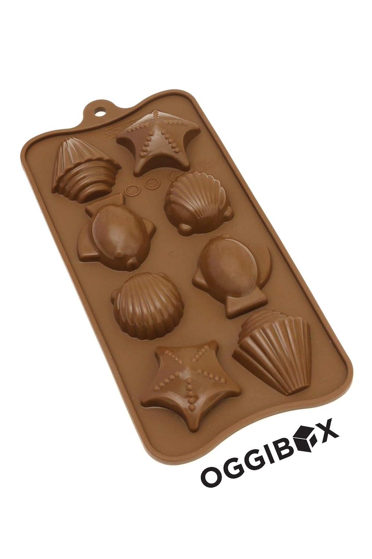 Oggibox 8-Cavity - Concha de silicona para pescado y ...