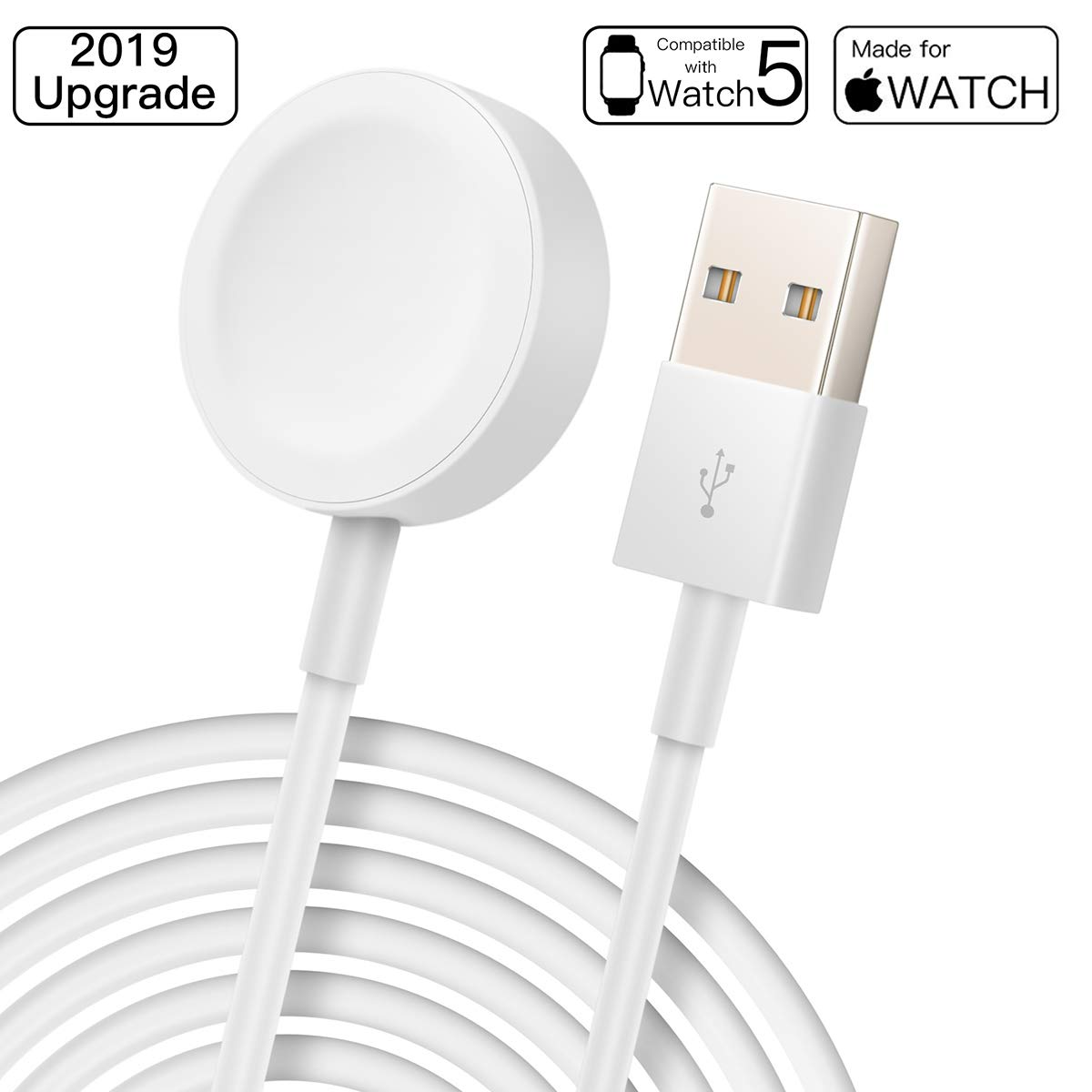 Charger para Appl e Watch,Cargador Magnética para iWatch Cargador Magnética para el Apple Watch Series 1/2/3/4,38mm,40mm,42mm,44mm(1M)