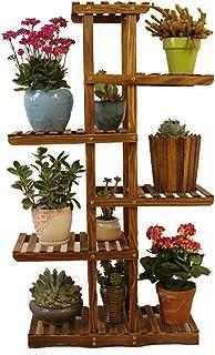 LQQGXL Supporto di Fiore di Legno Solido anticorrosivo, scaffale di stoccaggio della pianta del Fiore del Multi-Strato del Pavimento, Vaso di Fiore Decorativo dei Bonsai, Stand di Fiori