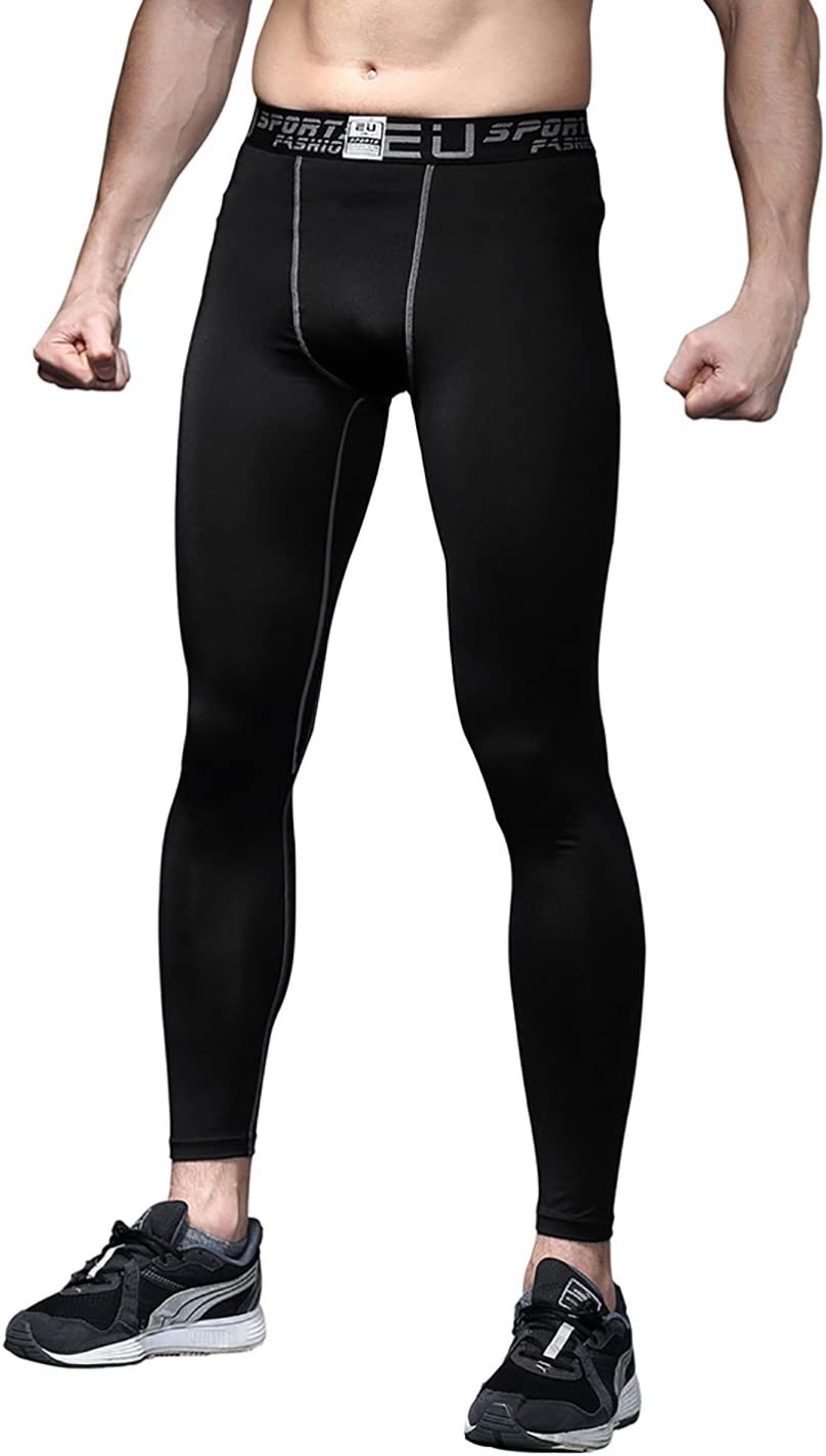 Witkey Mens Compression Pants Leggings Cool Dry Active Tights Baselayer