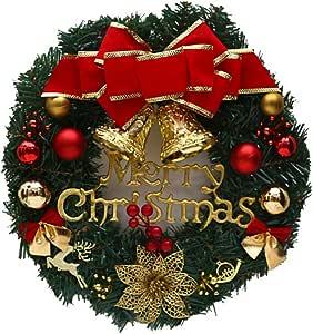 Mallalah Decoraciones de Navidad Guirnaldas de Puertas y Ventanas Guirnalda Fiestas de Navidad Decoración del árbol de 30CM (A): Amazon.es: Hogar