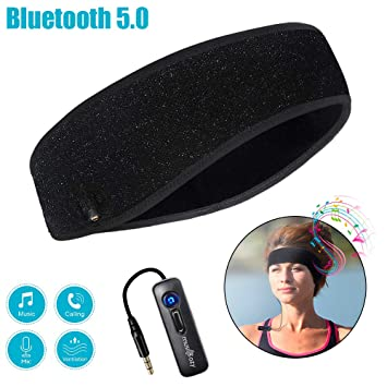 Amazon.com: Diadema Bluetooth para dormir, inalámbrica ...