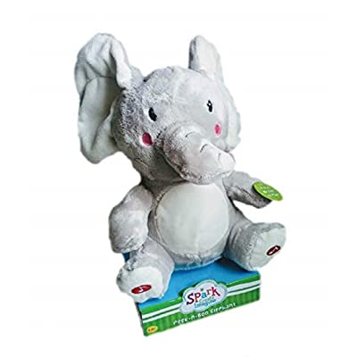 "WM Spark Imagine Create Peek-A-Boo Elephant 11"" Ears Move and Sings Song: Toys & Games"