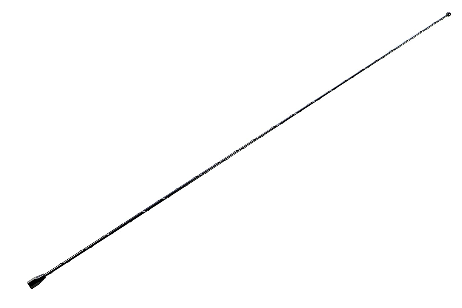 AntennaMastsRus - 12' Black Short Antenna is Compatible with Chevrolet Silverado 1500 (2006-2019) - Spiral Wind Noise Cancellation - Spring Steel Construction
