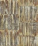 A-Street Prints 2540-24063 Patina Panels Copper Metal Wallpaper Patina Panels Metal Wallpaper