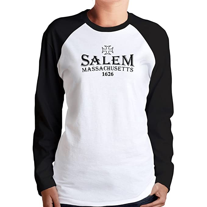 Salem, Massachusetts 1626 Women's Long Sleeve Raglan: Amazon ca