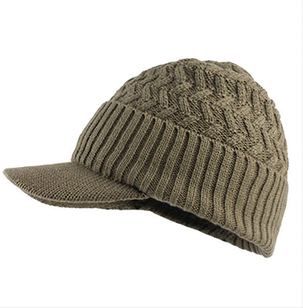 koe93id Mens hat Autumn and Winter Warm Comfortable hat Winter Mens Hat and Scarf Warm Knit Cap and Scarf Outdoor Visor