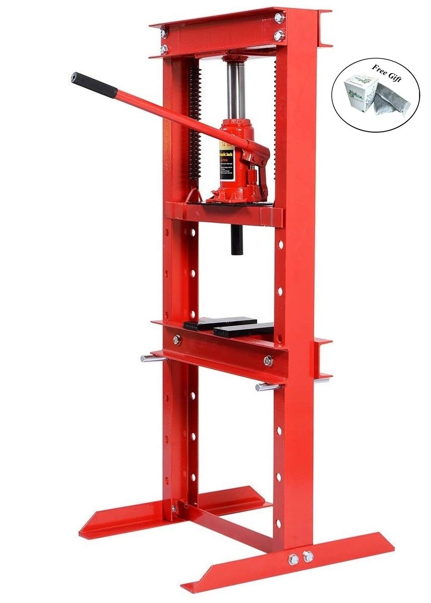 12 Ton H-Frame Shop Press Hydraulic Jack Stand Only by eight24hours + Special Gift