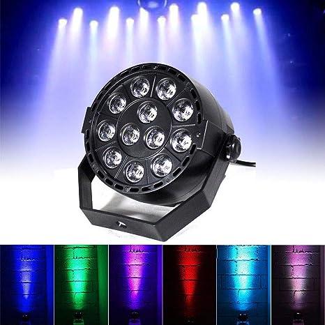 12 LED Proyector Conjunto de Luces de Escenario 12 x 3w Lámpara ...