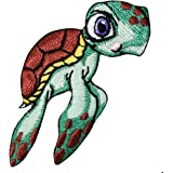 Sea Turtle Green Save The Ocean Life Zoo Cartoon Children Iron On Patches #A178